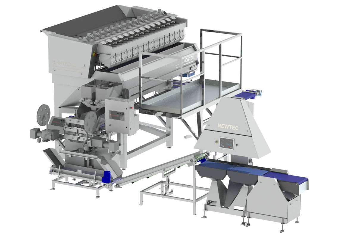 Solution; Weighing and bagging system for potatoes