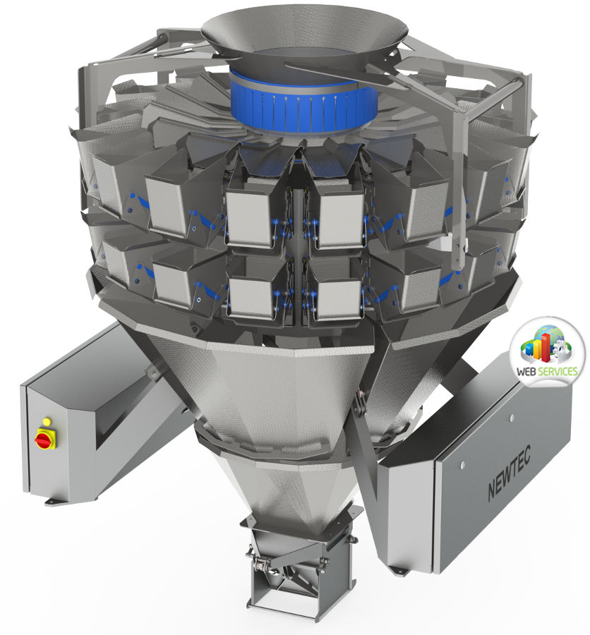 multihead round weigher revolver